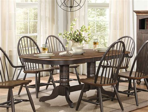 two tone dining table homelegance cline dining set two tone finish 5530 78 din