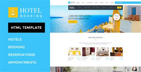 Hotel Booking Html Template For Hotels By Wpmines Themeforest Themeforest Website Templates Free