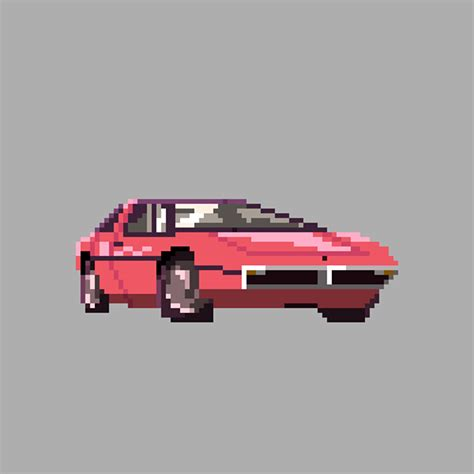 pixel art car the car series pixel art on behance