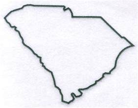 Carolina Outline by Machine Embroidery Designs At Embroidery Library