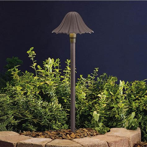 kichler outdoor path lighting kichler 15314 single tier leaf path light