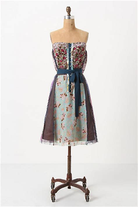Anthropologie Patchwork Dress - wilderflora patchwork dress anthropologie
