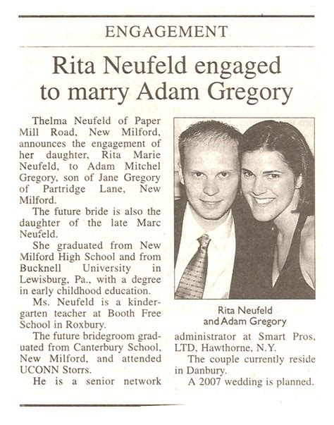 Wedding Announcements Websites by Engagement Announcement 171 Adam S Website