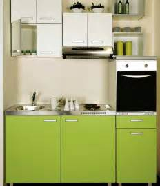Small Kitchen Interior Design by Modern Green Colours Small Kitchen Interior Design Ideas