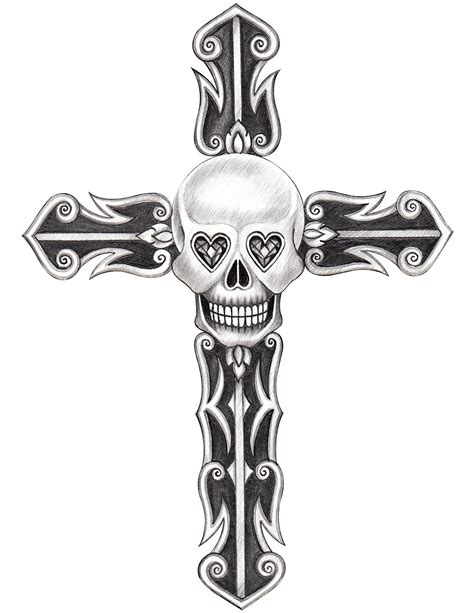 cross and skull tattoos 9 indian skull designs and their meanings