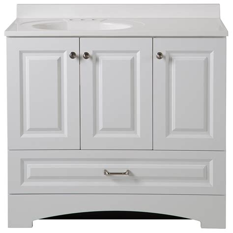 cheap white bathroom vanity glacier bay lancaster 36 5 in w x 19 in d bath vanity and vanity top in white