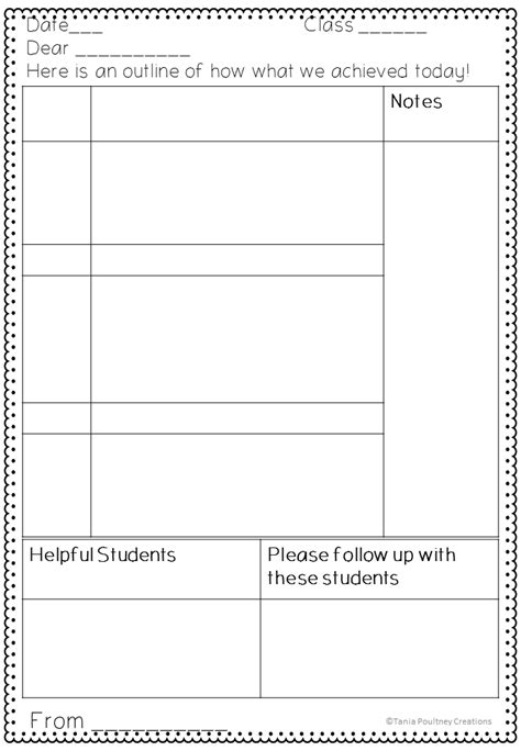 daybook template classroom ponderings a note for the
