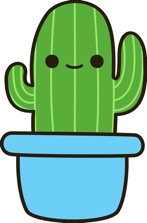 Pop Art Wall Stickers quot cute cactus in blue pot quot stickers by peppermintpopuk