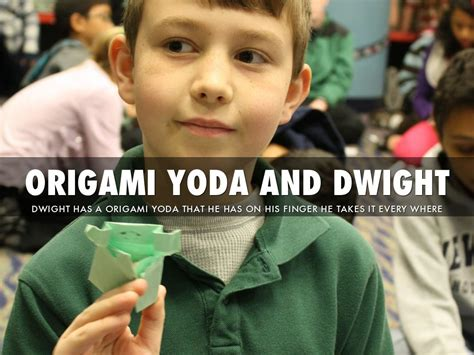 Dwight From Origami Yoda - the strange of origami yoda by harmony
