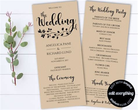 Wedding Ceremony Length by 41 Best Wedding Programs Images On Tea Length