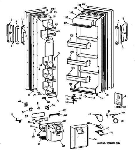 hotpoint refrigerator  series parts model csxgrxdww