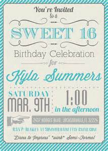sweet 16 invitation templates free 8 best images of free printable sweet 16 invitations