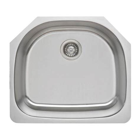 d shaped undermount stainless steel sink sinkware 16 d shape single bowl undermount