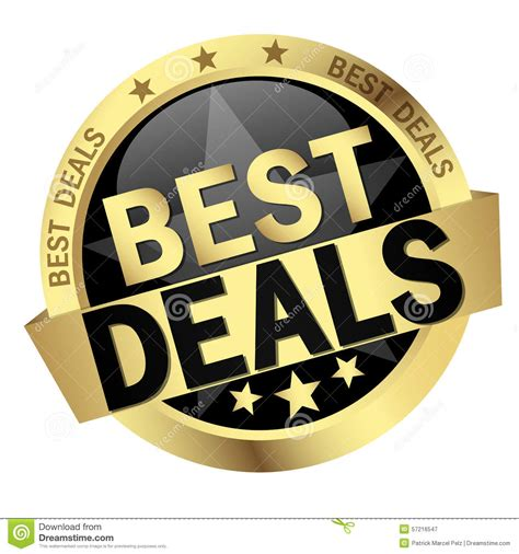 best deals button with text best deals stock vector image 57216547
