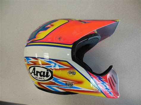 arai motocross helmets 80 s 90 s custom painted helmets of the moto