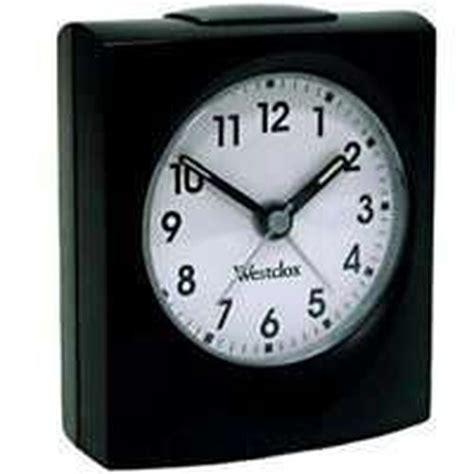westclox  black base quartz alarm clock sale  ebay