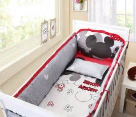 Baby Bedding Crib Cot Sets 10 Piece Mickey Mouse Theme