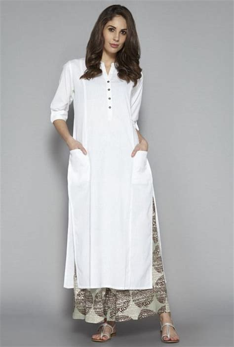 kurta pattern image plain white kurta for women www pixshark com images