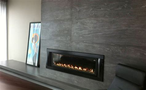 Cement Fireplace Surround by Trueform Custom Concrete Fireplace Surround