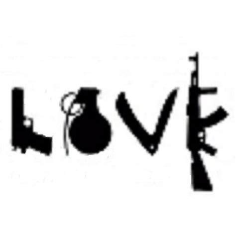 love tattoo with guns purchase love weapons sticker decal vinyl gun grenade