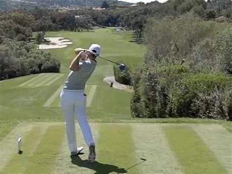swing in spanish lucas bjerregaard driver golf swing slow motion