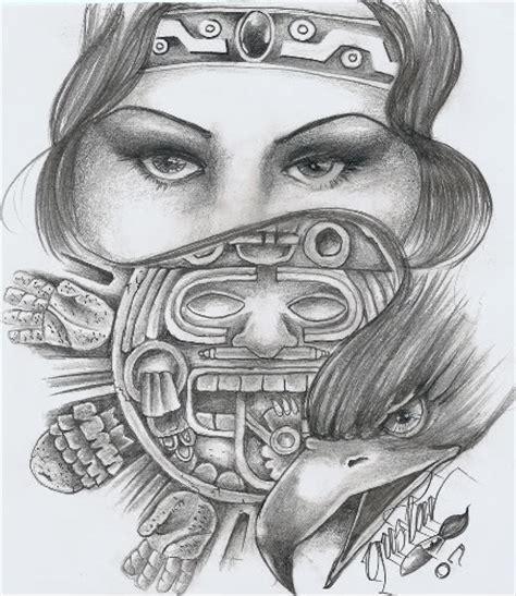 imagenes aztecas cholas dibujos chidos de cholos a lapiz imagui