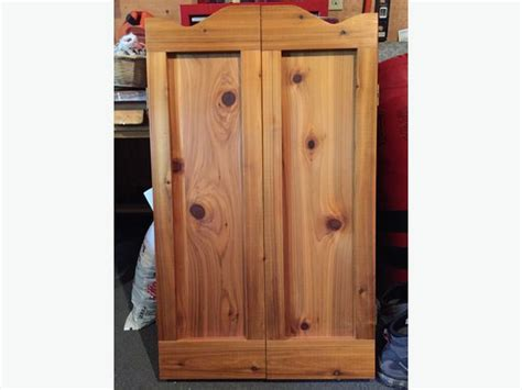 for sale custom made wood dart board cabinet rural