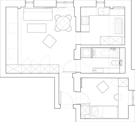 Tiny Apartment Floor Plans by Beautiful Attic Apartment With Clever Design Features