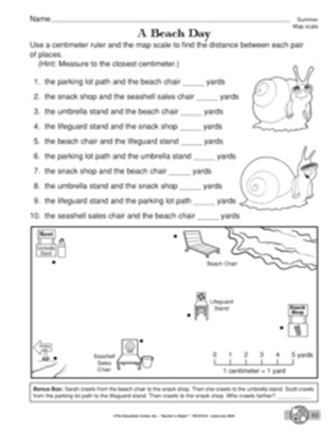 Using Scale On A Map Worksheet by Map Worksheets For 3rd Grade Treasure Map Grid Worksheet