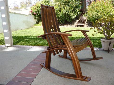 rocking bench plans wine barrel rocking chair barrels wine and rocking chairs