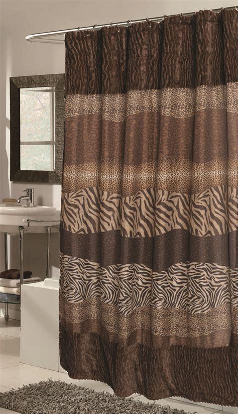 fur curtains safari animal jungle fabric shower curtain leopard zebra