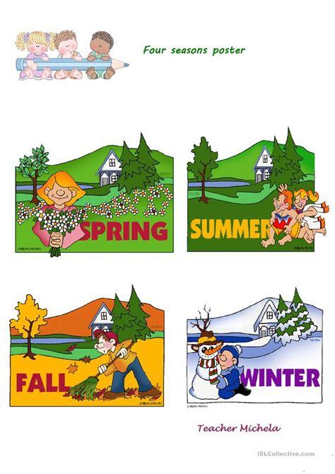 printable seasons poster kindergarten seasons worksheet free kindergarten weather