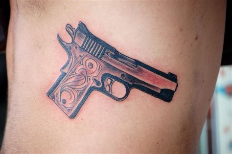 pistol tattoos gun tattoos