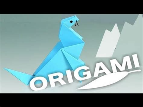 How To Make A Origami Seal - a paper seal origami step by step how to make