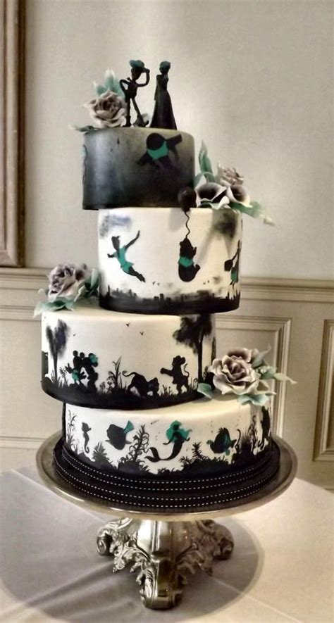 Disney Wedding Cake by Th 232 Me De Mariage Disney Silhouette Wedding Cake 2567430