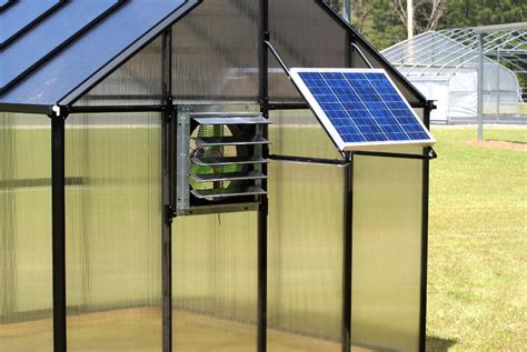 solar powered greenhouse fan riverstone monticello mojave greenhouse 8 x 24