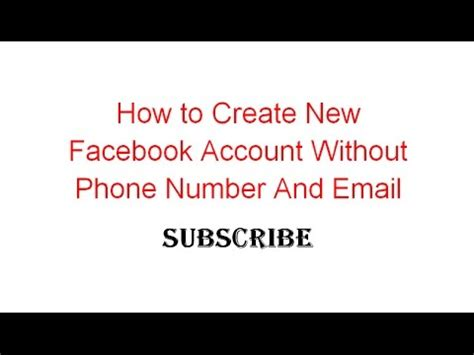 email without phone how to create new facebook account without phone number