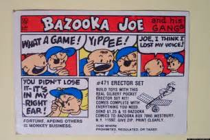 bazooka joe character chewed up and spit out by topps inc