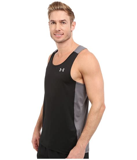 Singlet Fitnes Underarmour armour ua coolswitch run singlet in black for lyst