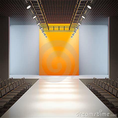 fashion empty runway royalty  stock  image
