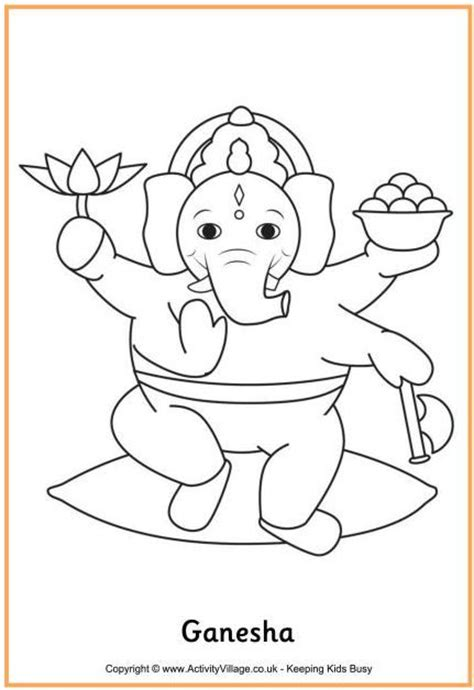 ganesha colouring page lord ganesh colouring page