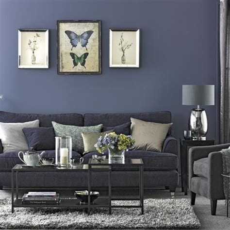 navy blue living room traditional living room pictures house to home