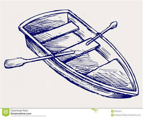 how to draw a boat paddle wooden boat with paddles stock vector illustration of