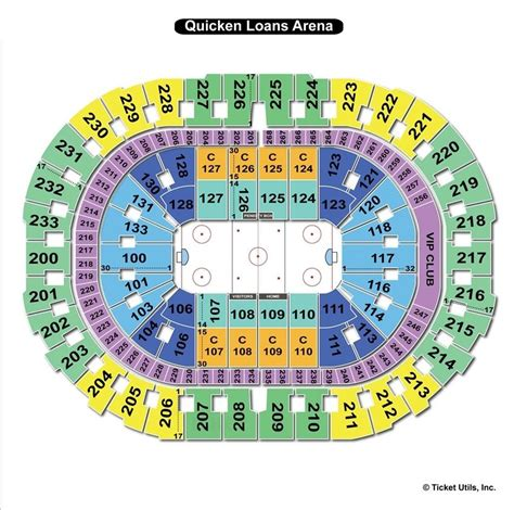 arena seating chart quicken loans arena cleveland oh seating chart view
