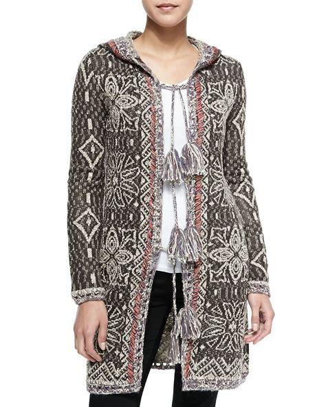 Tassel Sweater 1 free hooded combo tassel sweater in brown lyst