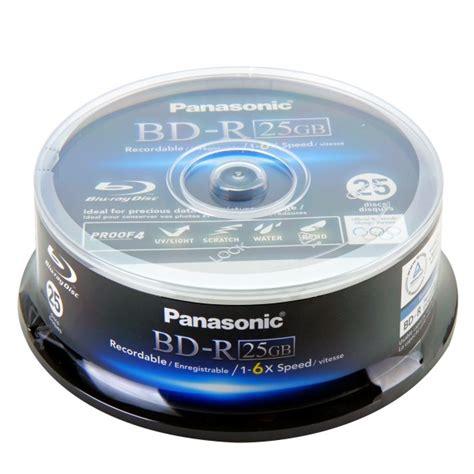 Panasonic Blueray Disk Media 25gb T2909 panasonic disc bd r 25 gb 135 min 6x