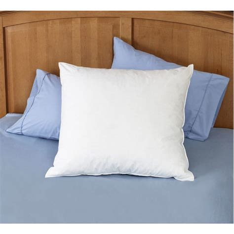 square bed pillows natural feather 26 x 26 euro square pillows set of 2