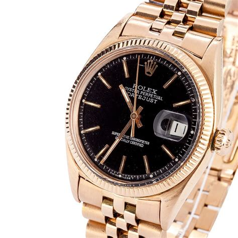 rolex datejust 18k gold 1601 low prices at bob s