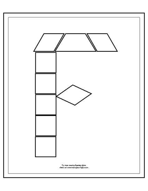 Pattern Block Templates by Pattern Block Templates At Makelearningfun Alphabet