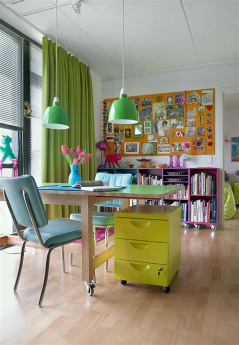 colorful furniture colorful office desk home design ideas and pictures